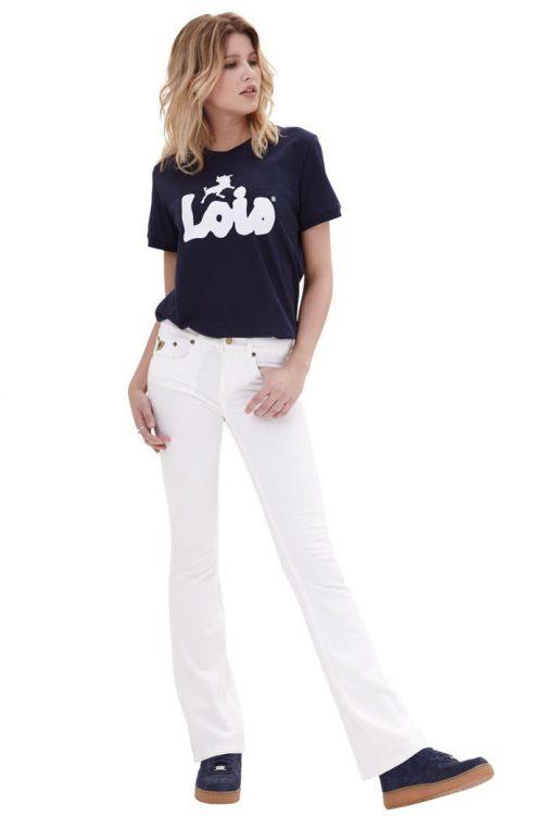 Hvit 'Melrose' flare jeans Lois
