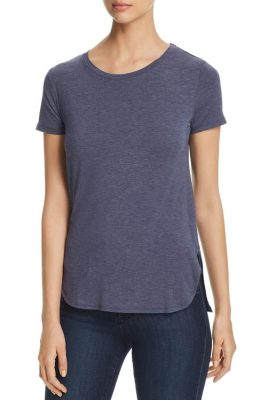 Rett t-shirt med bue foran og splitt Majestic Filatures - E180125