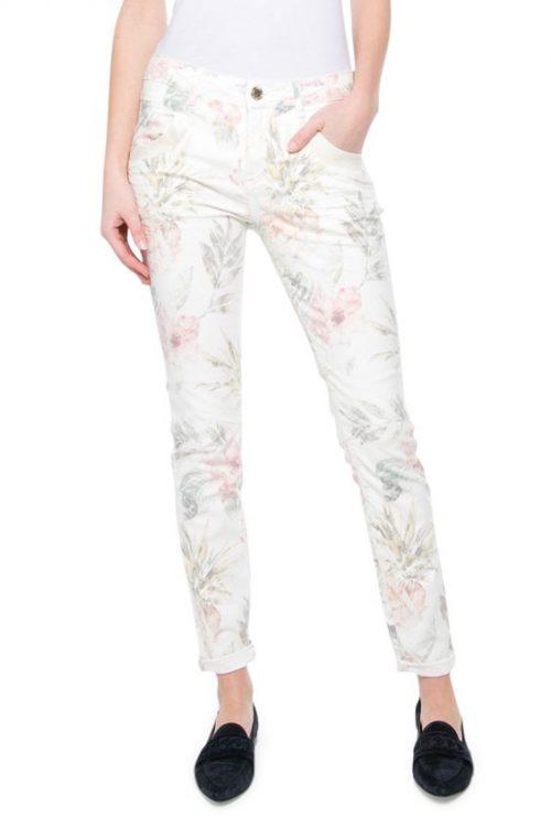 Offwhite ananasprint bukse Mos Mosh - 121880 naomi glam tropic