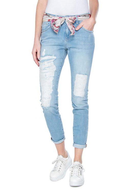 Lys jeans med reparerte felt Mos Mosh - 122370 bradford bleached