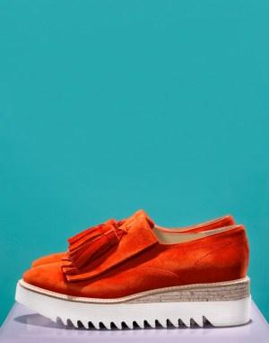 Blå eller rød semsket sko med dusk Laura Bellariva - 1089