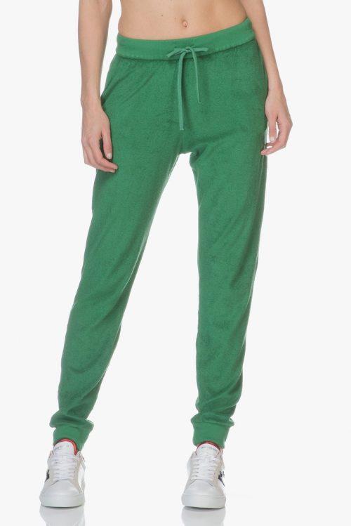 Grønn eller sort frotté joggers Majestic Filatures - E184807