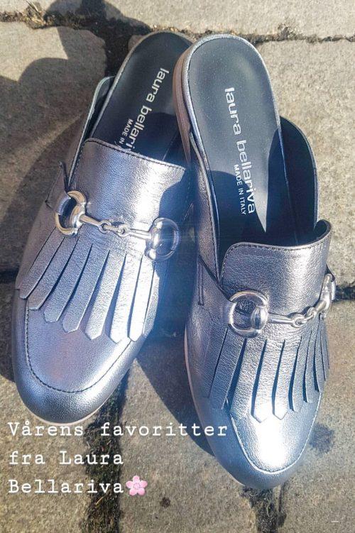 Svart sølvfarget 'Gucci' slip in loafer Laura Bellariva - 1141