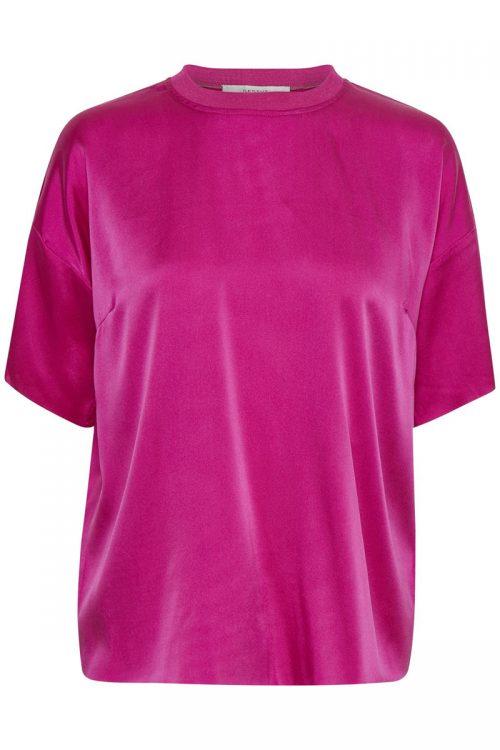 Syklamen silke t-shirt Gestuz - kennedy ss top 1870