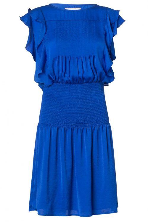 Kongeblå kjole med stretchliv Munthe