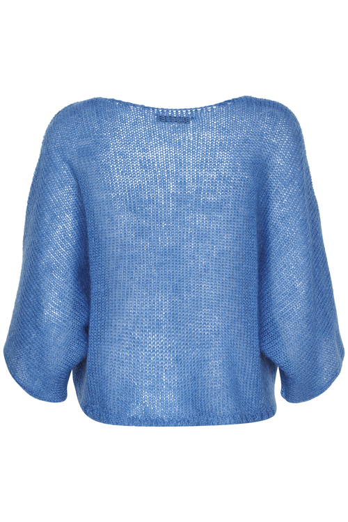 Lapis blue mohair mix genser med kort erm Gestuz - holly