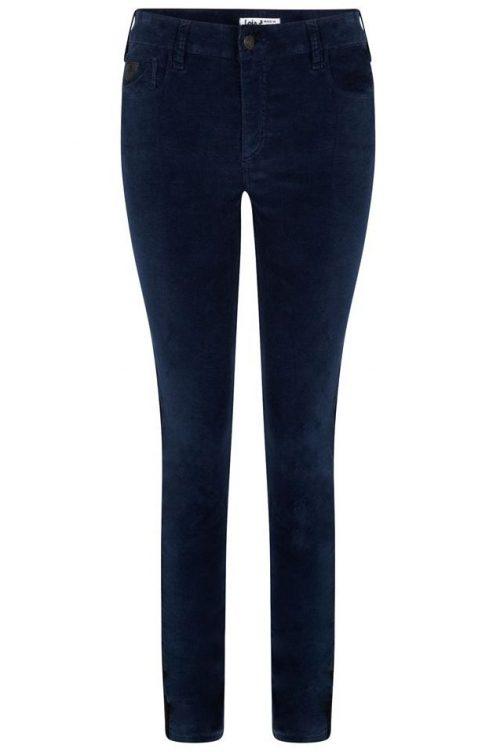 Sort eller tobakkfarget velour smal bukse Lois Jeans - cordoba 201 velvet smooth 5560 L34