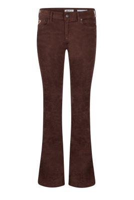 Sort eller beige 'semsket' flare bukse Lois Jeans - raval 16-207 ante brown 5639 L32