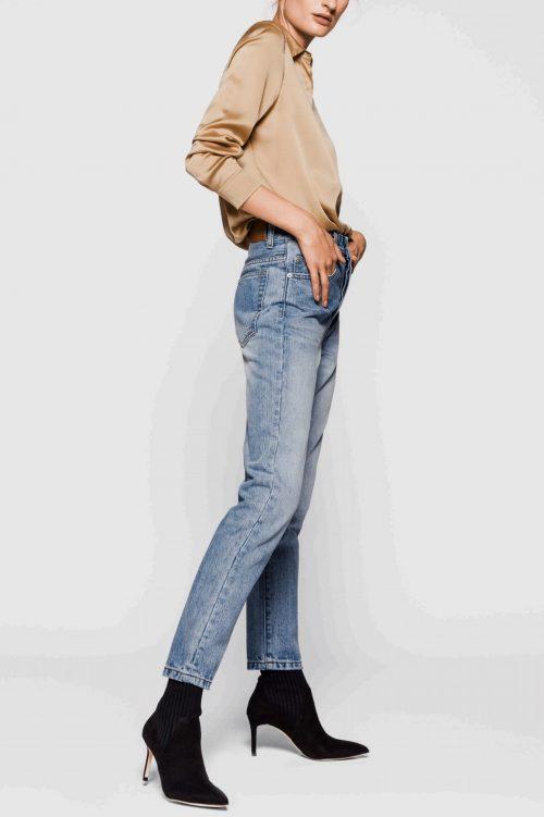 Cognac silke stretch skjorte One & Another - audrey silke shirt