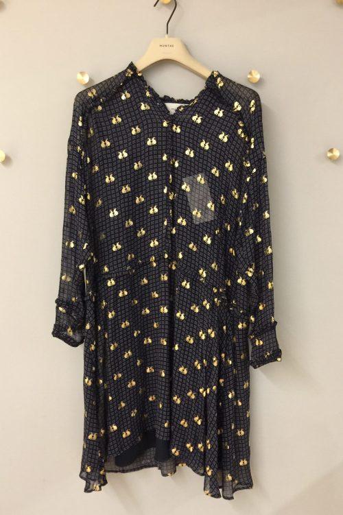 Indigomønstret kjole Munthe - vinyl