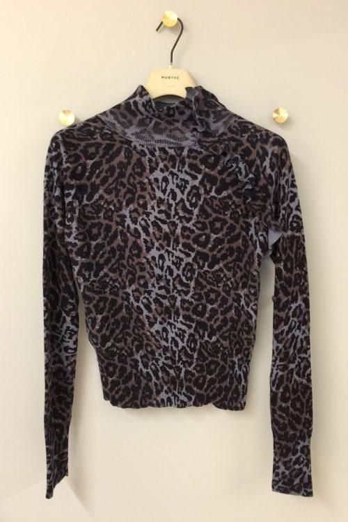 Brunindigo leopard polotopp Munthe - victoria
