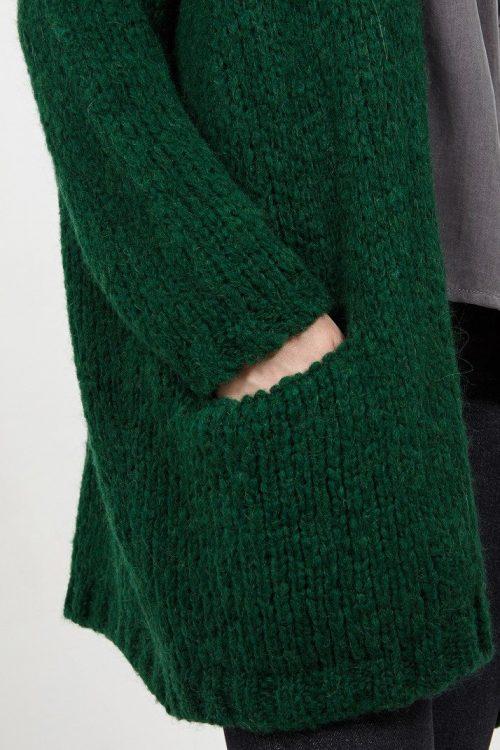 Grønn eller lys grå lang oversized cardigan American Vintage - boo 266
