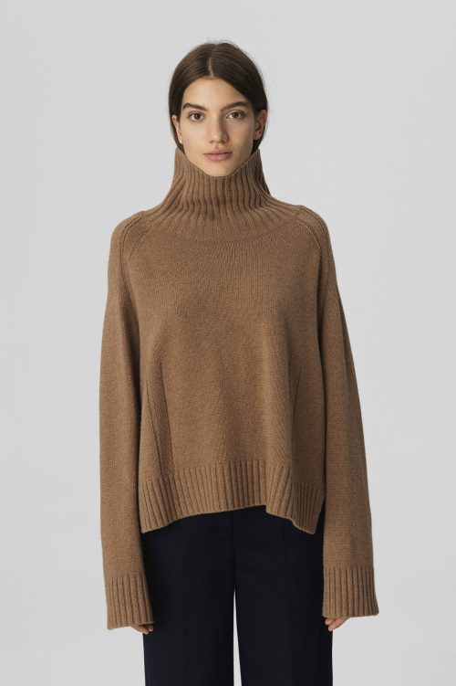 Cognac pologenser By malene Birger - ALEYA-SWEATER-Q65757001_1AF