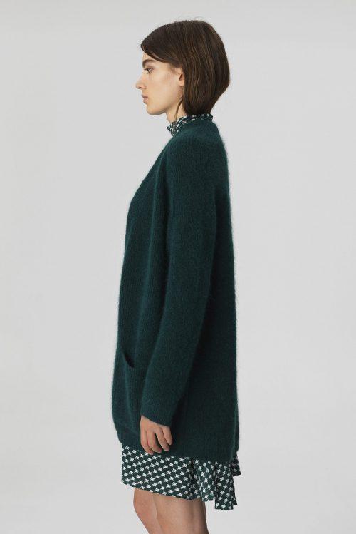 Grønn lang cardigan By Malene Birger - BELINTA-CARDIGAN-Q56560108_4Y3