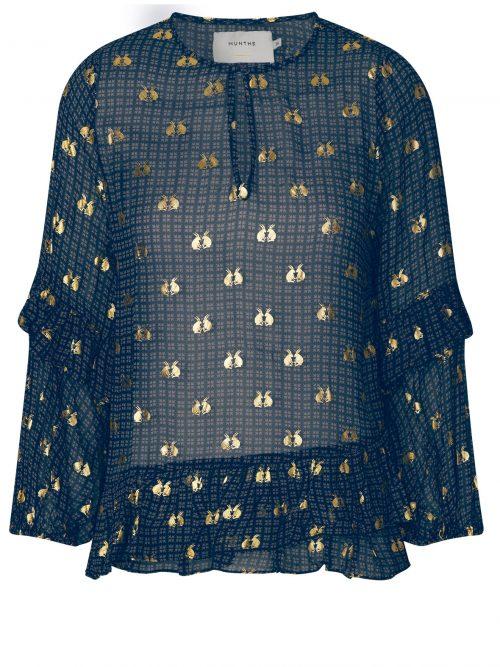 Indigomønstret bluse Munthe - vanish