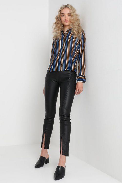 Cognacblåstripet skjorte Gestuz - riba shirt