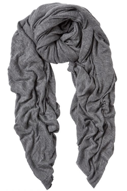 Mid grey 'Luxury' cashmere skjerf Natura Cashmere - luxury 100*160 cm