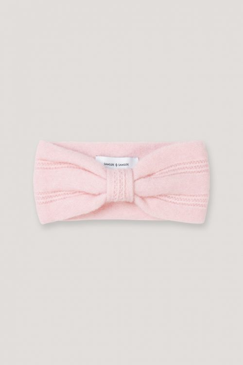 Gråmelert, rosa eller sort mohair mix hårbånd Samsøe - 7355 nor head band
