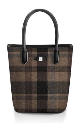 Wool brown rutet 'Popstar' shopper Save my Bag - 10230N-LY-ST LYCRA W-BROWN