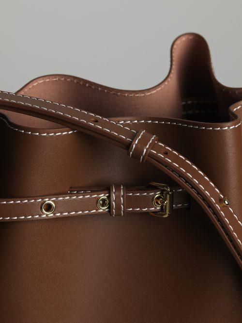 Sort eller brun skinn 'Ema Bucket Bag' By Malene Birger - Ema Bucket bag - Q66987003