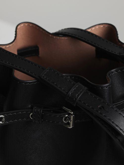 Sort eller brun 'Mini Bucket Bag' By malene Birger - mini bucket bag