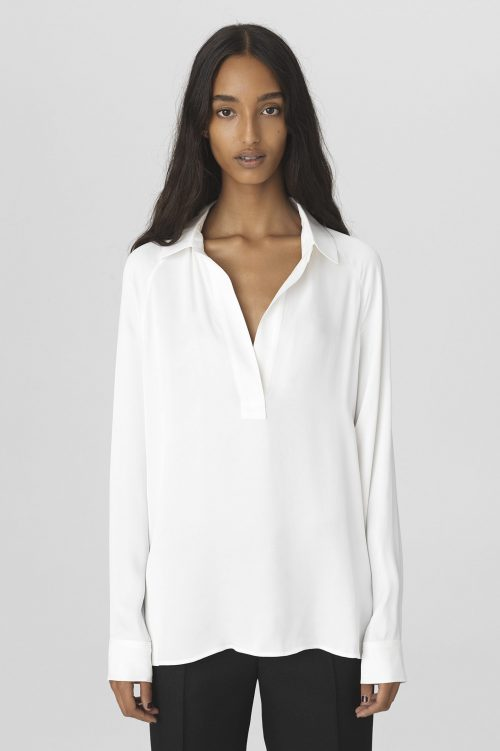 Soft white viskose bluse By Malene Birger