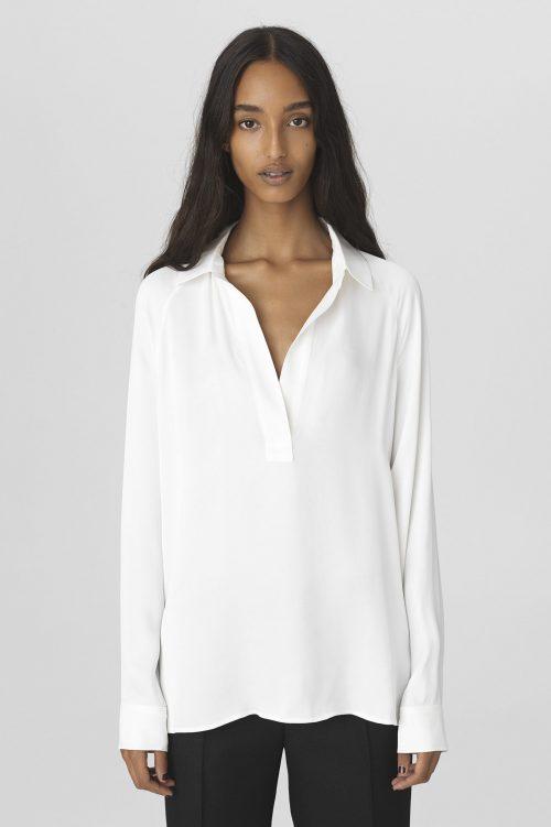 Soft white viskose bluse By Malene Birger - Oliviaa blouse Q66231008