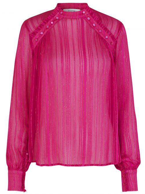 Rosa bluse med glittertråder Munthe - Naked