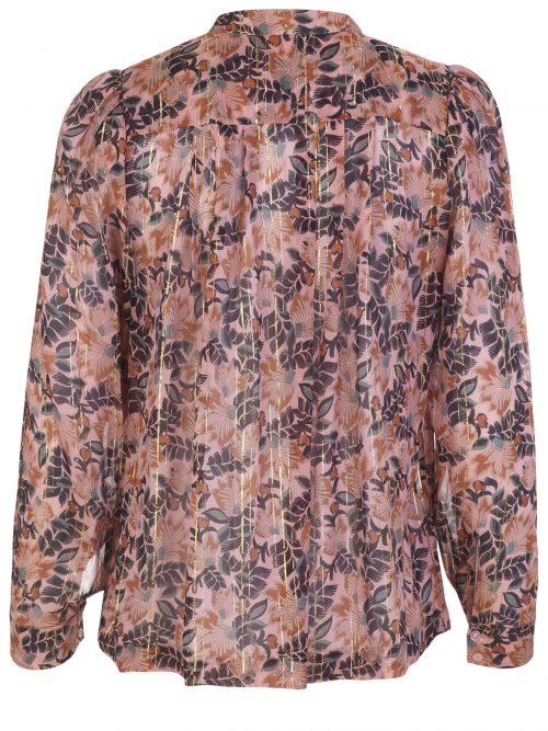Rosamønstret bluse Munthe - Noella