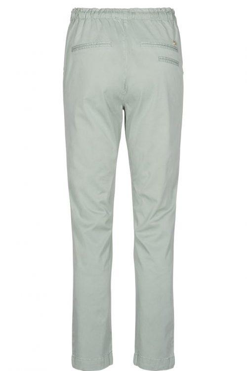 Hvit (ikke sjøgrønn) myk sporty bukse med knyting Mos Mosh - 128430 patton nature pant