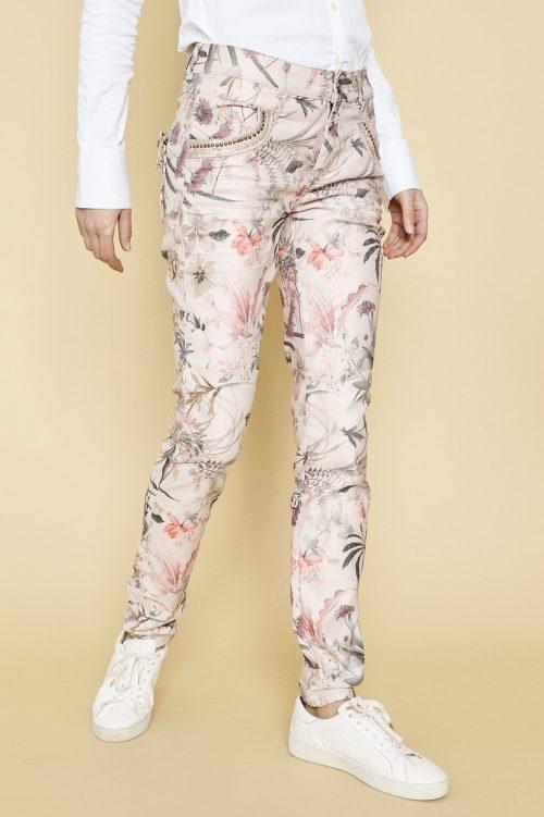 Rosa 'Naomi shine flower' bukse med pynt på lomme Mos Mosh - 126850 naomi shine flower pants
