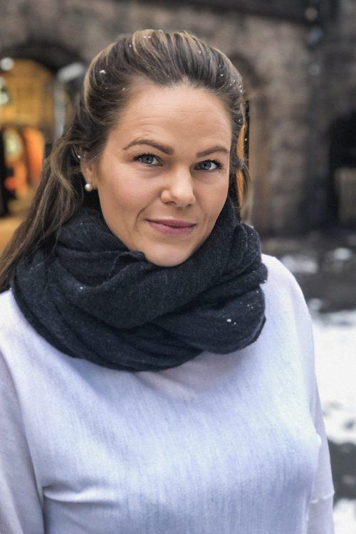 Dark grey 'Luxury' cashmere skjerf Natura Cashmere - Luxury medium