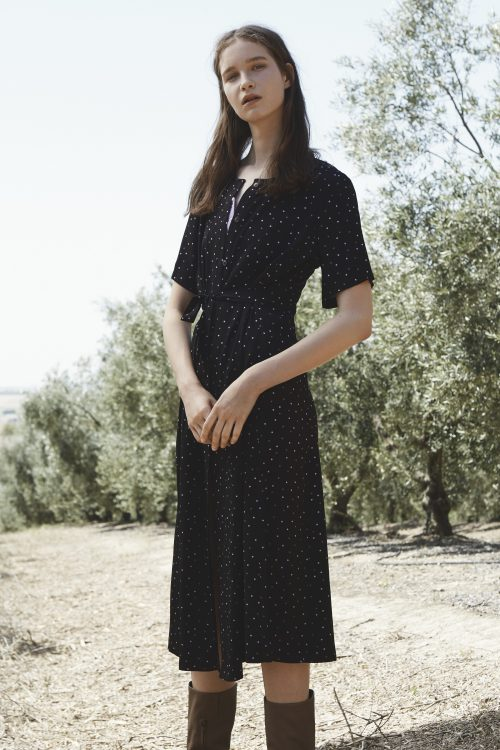 Blackpurple dots kjole Gestuz - 2237 harper midi dress
