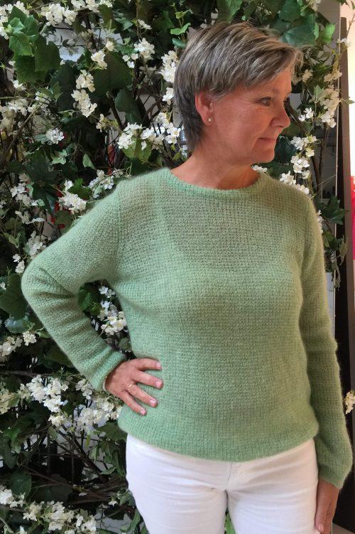 Gul, lindegrønn eller korall mohairmix genser Dear Dharma - new maddy