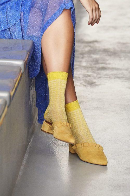 Lavendel, gul eller sort mønstret ankel 'Michelle' MP Denmark - 77564_733