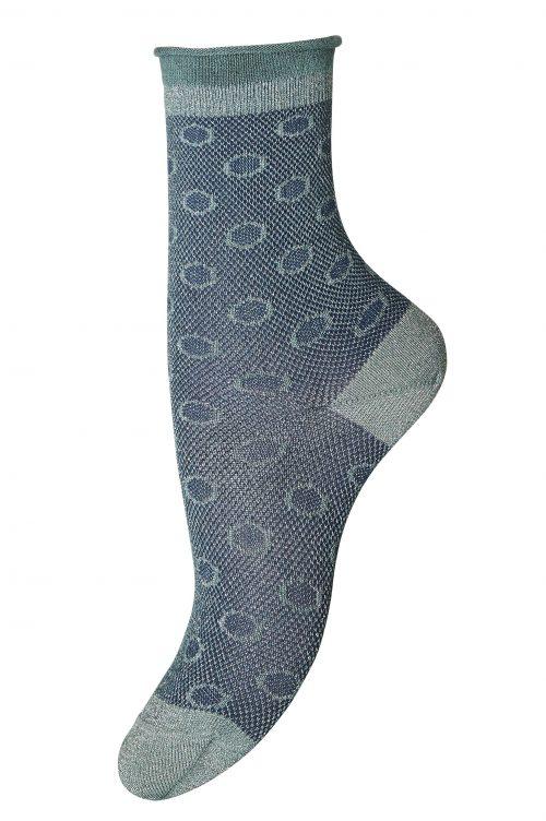 Sjøgrønngrå, blåsort eller dus rosa mønstret ankel 'Karen' sokk MP Denmark - 77575_731