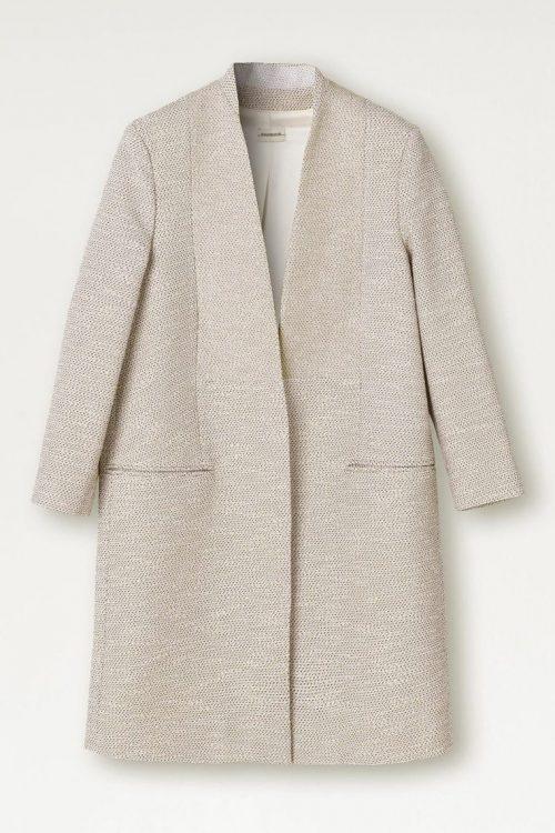 Beige bouclé jakkekåpe By Malene Birger - Q66617003