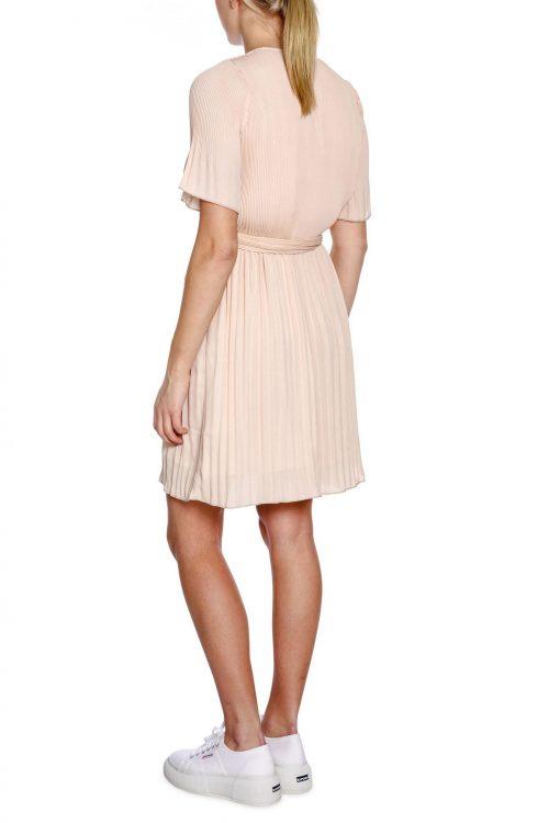 Dus rosa eller sort plissékjole Cathrine Hammel - 1314 miami dress with short sleeve