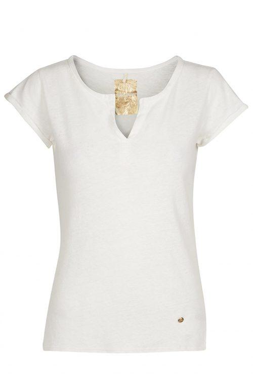 Ecru lin t-shirt Mos Mosh - 117440 troy tee