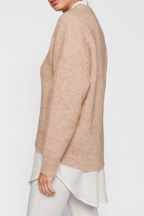 Lyseblå eller dus rosasand mohairmix genser One & Other - monacco