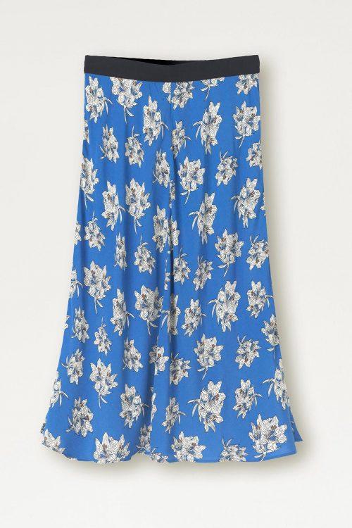 Kornblå mønstret skjørt By Malene Birger - printed skirt Q66576005