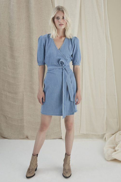 Light blue denim bomullskjole Gestuz- 3273 mabelle gz dree
