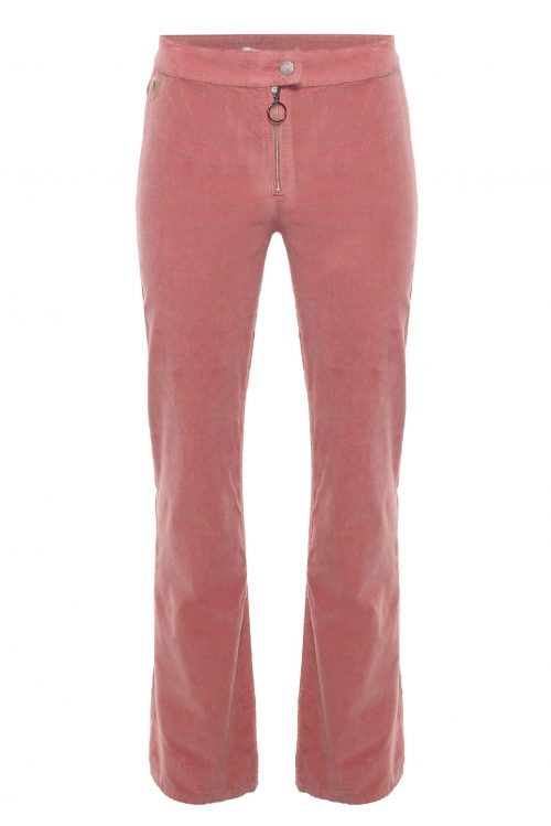 Coral almond flare microcord flare bukse Lois Jeans - rawide zip 2261-5285 micro rip L34