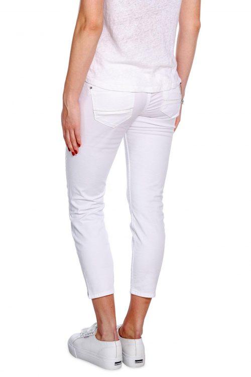 Hvit 7/8 bukse med nydelig pynt ved lomme Mos Mosh - 127750 naomi muscat 7/8