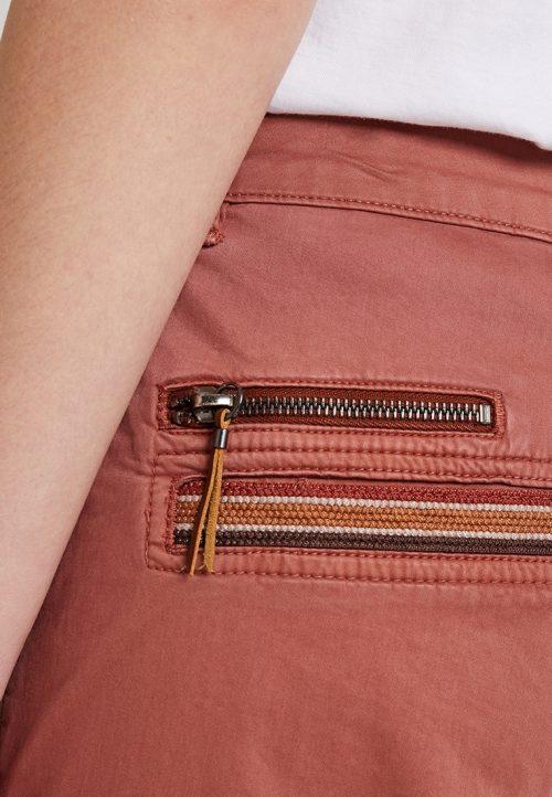 Rustrød cargobukse Mos Mosh - 127010 hurley deco cargo pants
