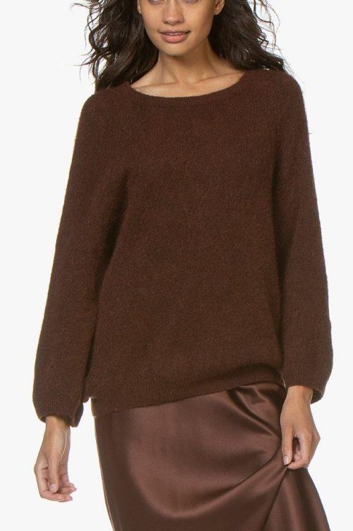 Sjokolade eller lys offwhitegrå oversized genser American Vintage - wox 247