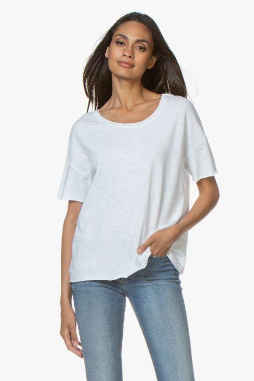 Hvit, baby lilla og gråmelert oversized t-shirt American Vintage - son 36 B