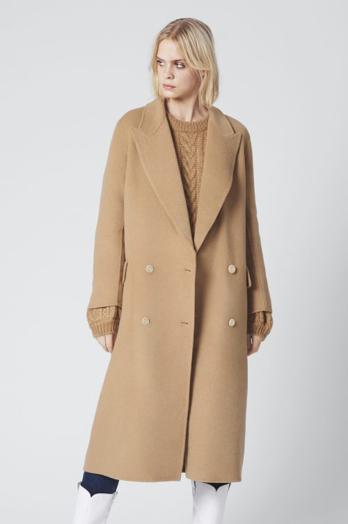 Camel ullkåpe Gestuz - lea coat 3891