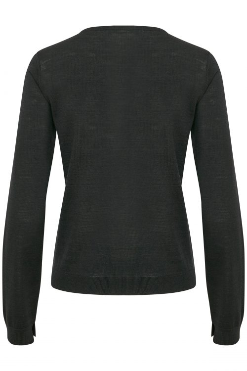 Light grey eller sort klassisk 100% ull cardigan Gestuz - merina cardigan 2807