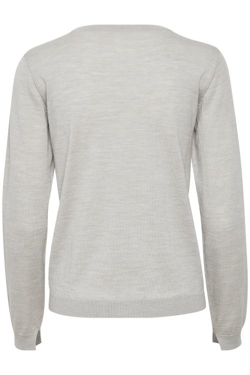 Light grey eller sort klassisk 100% ull cardigan Gestuz - merina cardigan 2807